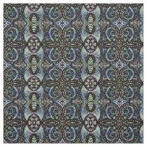 Swirly Layered Floral Pattern Fabric