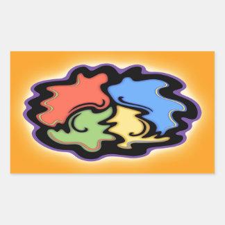 Swirly Line Peace Sign Rectangular Sticker