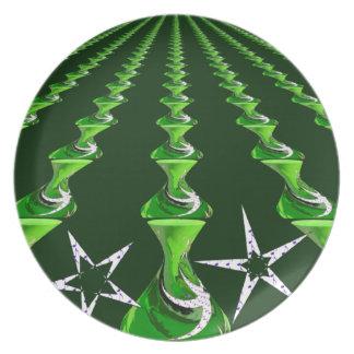 Swirly_Links resized.PNG Melamine Plate