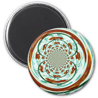 Swirly Lions Abstract Wildlife Pattern Magnet