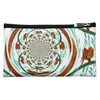 Swirly Lions Abstract Wildlife Pattern Makeup Bag