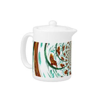 Swirly Lions Wildlife Pattern Teapot