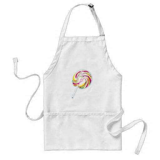swirly lollipop colorido delantal