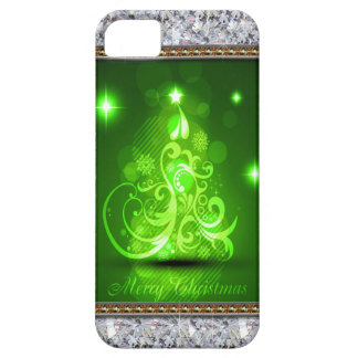 Swirly Merry Christmas Diamonds Abstract In Green iPhone SE/5/5s Case
