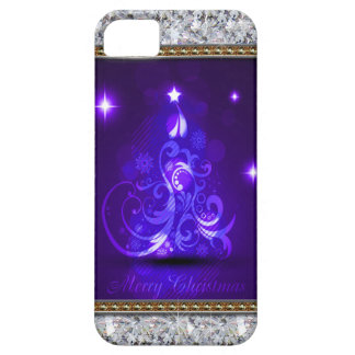 Swirly Merry Christmas Diamonds Abstract In Purple iPhone SE/5/5s Case