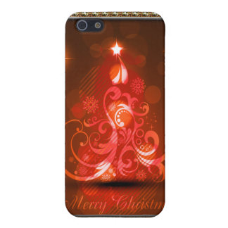 Swirly Merry Christmas Diamonds Abstract In Red Cover For iPhone SE/5/5s
