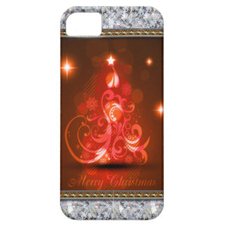 Swirly Merry Christmas Diamonds Abstract In Red iPhone SE/5/5s Case