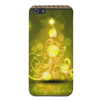 Swirly Merry Christmas Diamonds Abstract In Yellow iPhone SE/5/5s Cover
