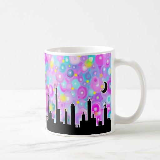 Swirly Metropolis Coffee Mugs