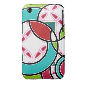 Swirly Miami Pop Multicolor iPhone 3/3GS Case