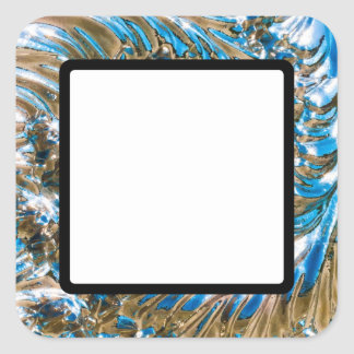 Swirly Mirror Square Sticker