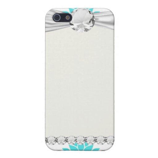 swirly modern aqua white black damask pattern iPhone 5 cases