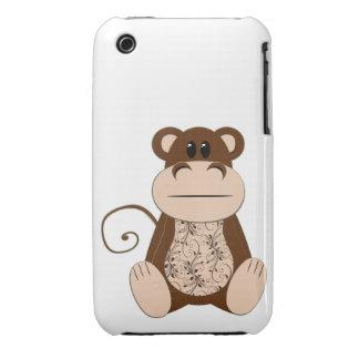 Swirly Monkey Case iPhone 3 Case-Mate Cases