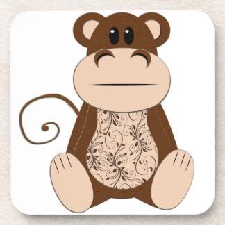 Swirly Monkey Cork Coaster