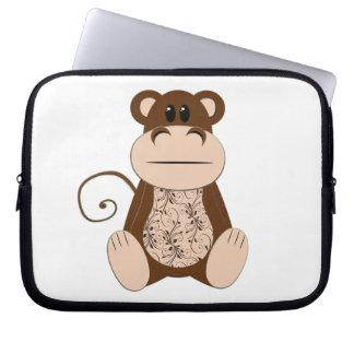 Swirly Monkey Electronics Bag Laptop Sleeves