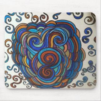 Swirly mouse pad