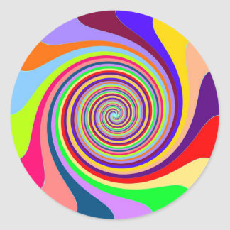swirly moviéndose a la meta y al éxito pegatina redonda
