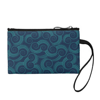 Swirly Ocean Waves Change Purse