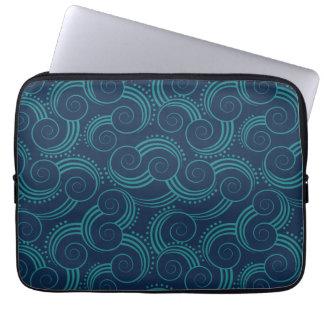 Swirly Ocean Waves Laptop Computer Sleeve