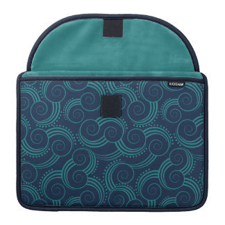 Swirly Ocean Waves MacBook Pro Sleeves