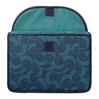 Swirly Ocean Waves Sleeve For MacBook Pro