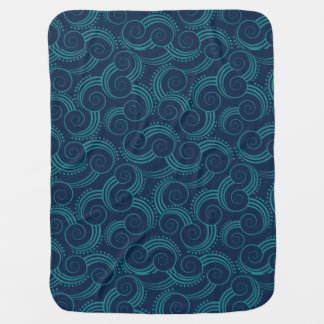Swirly Ocean Waves Swaddle Blanket