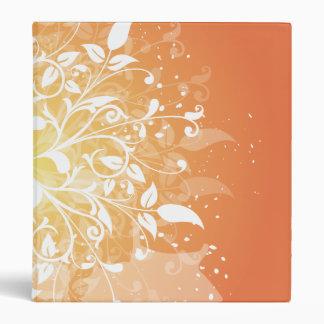 Swirly orange binder