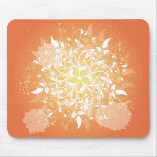 Swirly Orange Mouse Pad