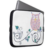 Swirly Owl laptop or tablet sleeve