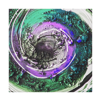 Swirly Paint Daubs Gallery Wrapped Canvas