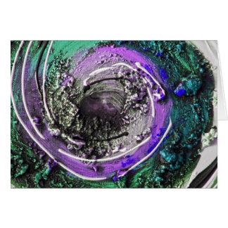 Swirly Paint Daubs Greeting Card