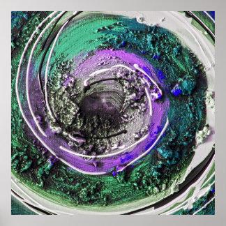 Swirly Paint Daubs Poster