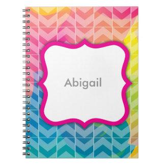 Swirly Paint Personalized Notebook 1