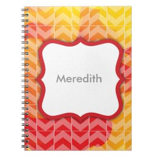 Swirly Paint Personalized Notebook 3