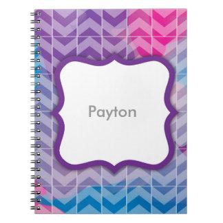 Swirly Paint Personalized Notebook 4