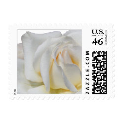 Swirly Pale White and Yellow Small Wedding Postage stamp