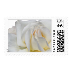 Swirly Pale White and Yellow Wedding Postage stamp