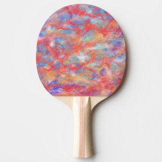 Swirly pattern ping pong paddle