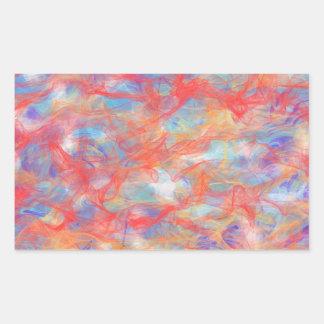 Swirly pattern rectangular sticker