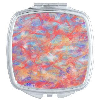 Swirly pattern vanity mirrors