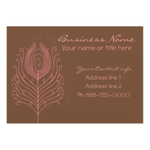 Swirly Peacock Feathers Business Cards
