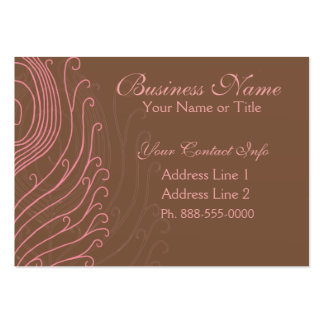 Swirly Peacock Feathers Business Cards II