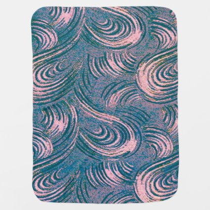 Swirly Pink & Blue Swaddle Blankets