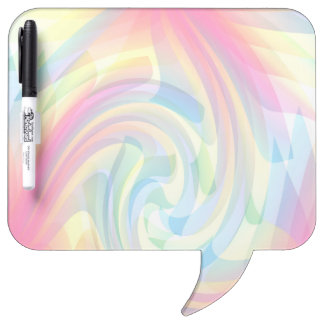 Swirly Pink Blue Yellow Pastel Rainbow Colors Dry-Erase Board