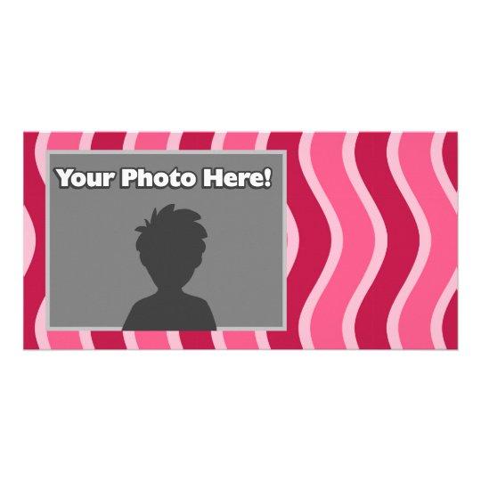Swirly Pink Striped Card