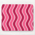 Swirly Pink Striped Mousepad