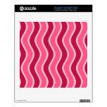 Swirly Pink Striped Skin For FreeAgent Desk