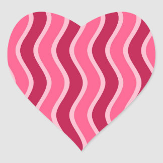 Swirly Pink Striped Stickers