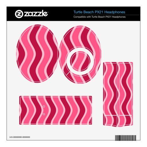 Swirly Pink Striped Turtle Beach Px21 Skin