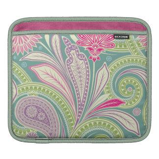 Swirly Pretty Paisley Flower iPad Sleeves
